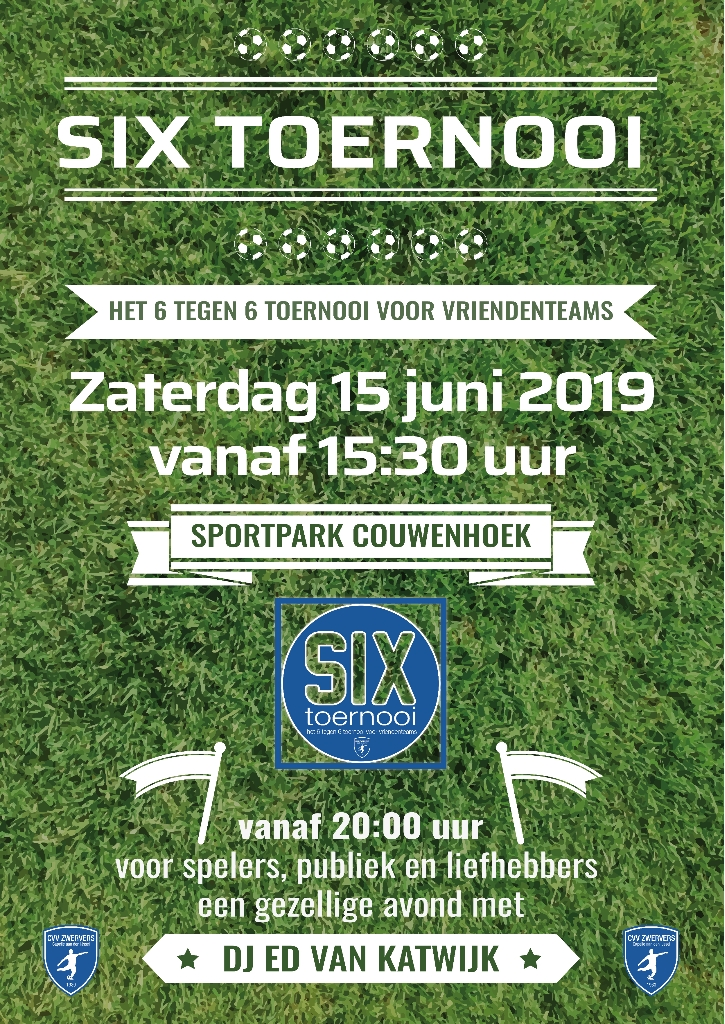 SIX toernooi poster 2019